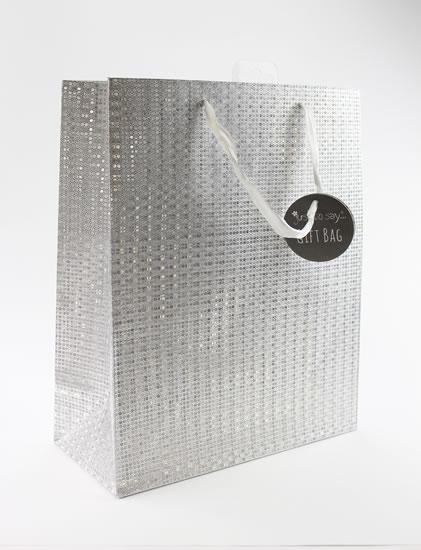 Taška large Glitter stříbrná - Dárkové tašky