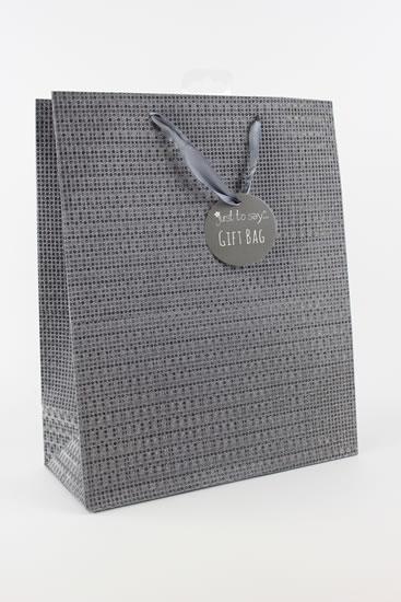 Taška large Glitter šedá - Dárkové tašky