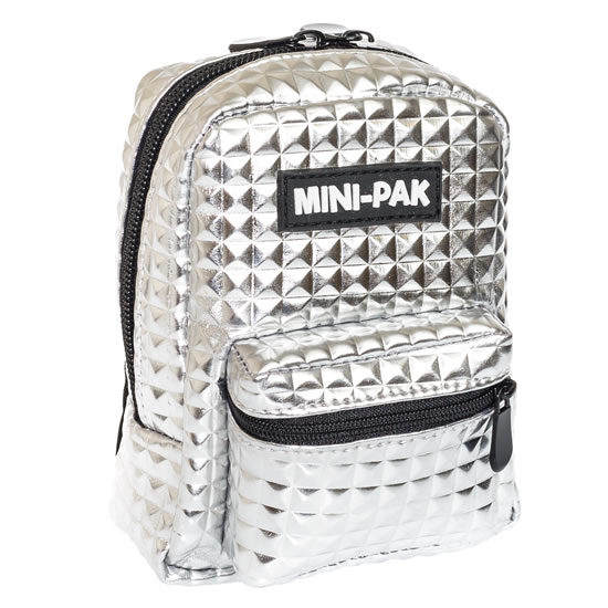 Minibatůžek na ruku Stříbrný