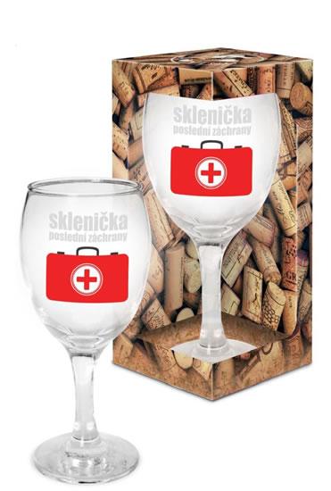Sklenička na víno Sklenička poslední záchrany - Já miluju víno