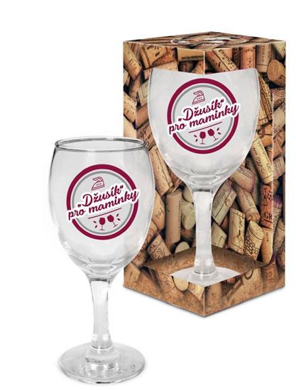 """Sklenička na víno """"Džusík"""" pro maminky - Já miluju víno"""