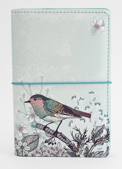 Diář UNI Ptáček na větvičce kroužkový M s vyměnitelným kalendáriem 2021 - Designové diáře 2021