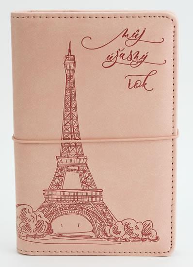 Diář UNI Eiffelovka kroužkový M s vyměnitelným kalendáriem 2021 - Designové diáře 2021