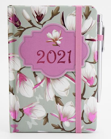 Diář 2021 smart: Magnólie - Designové diáře 2021