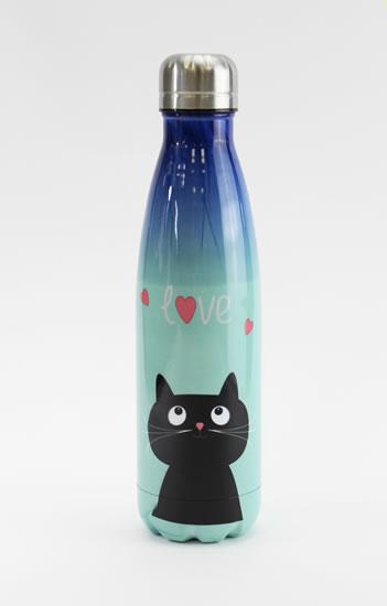 Nerezová lahev Kočka