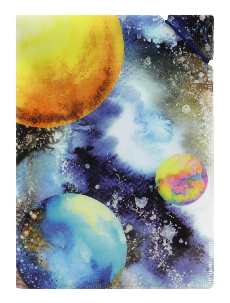 Desky A5 s gumičkou Planety