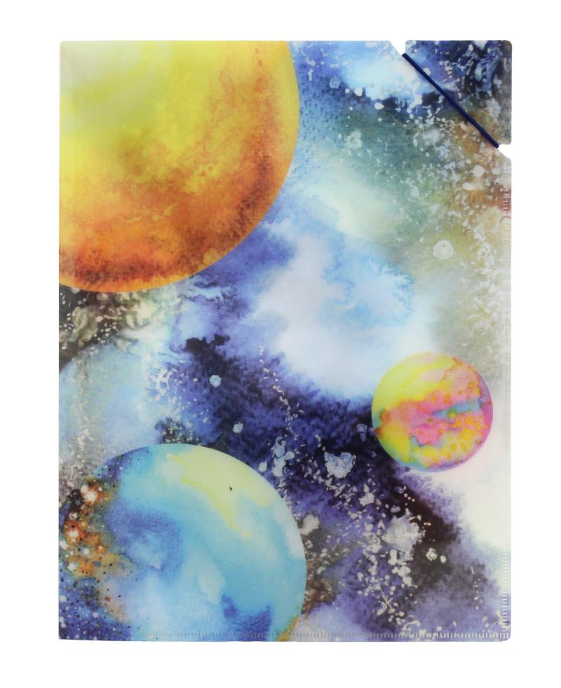 Desky A4 s gumičkou Planety
