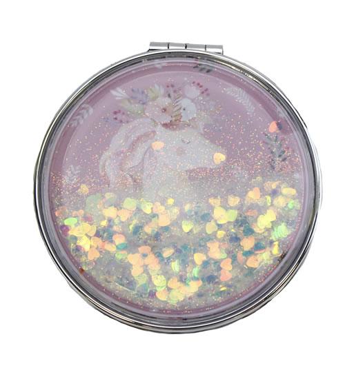 Zrcátko glitrové Jednorožec - Dárková zrcátka