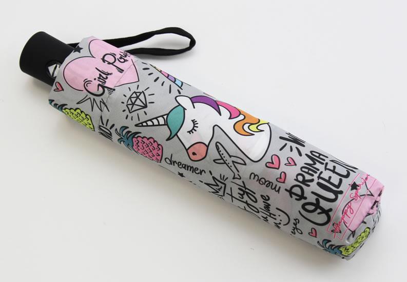 Deštník vystřelovací skládací Jednorožec - Deštníky