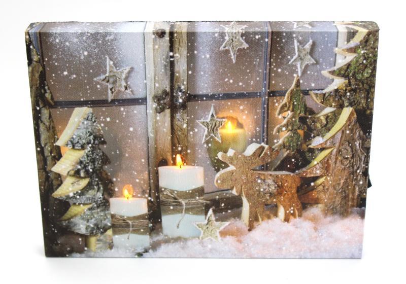 Obrázek se světýlky Zimní zátiší
