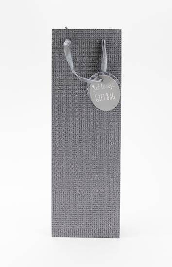Taška lahev Glitter šedá - Dárkové tašky