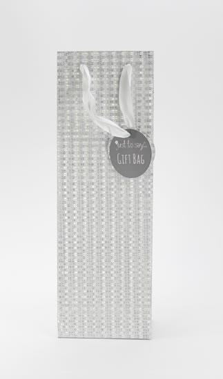 Taška lahev Glitter stříbrná - Dárkové tašky