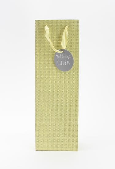 Taška lahev Glitter zlatá - Dárkové tašky