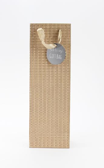Taška lahev Glitter bronzová - Dárkové tašky