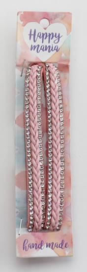 Náramek s kamínky růžový-Happy Mania