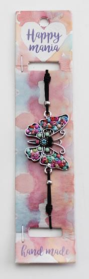 Náramek Motýl barevné korálky-Happy Mania