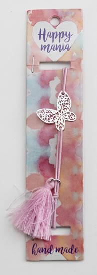 Náramek Motýl na růžové-Happy Mania