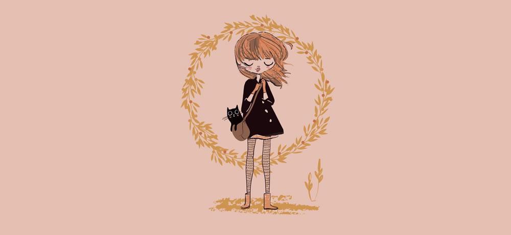 Obálka na peníze Kočka a slečna