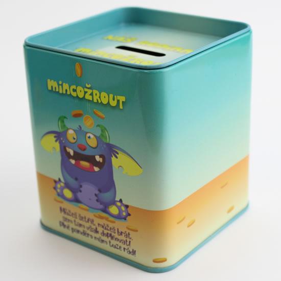 Pokladnička Mincožrout - Plechové pokladničky