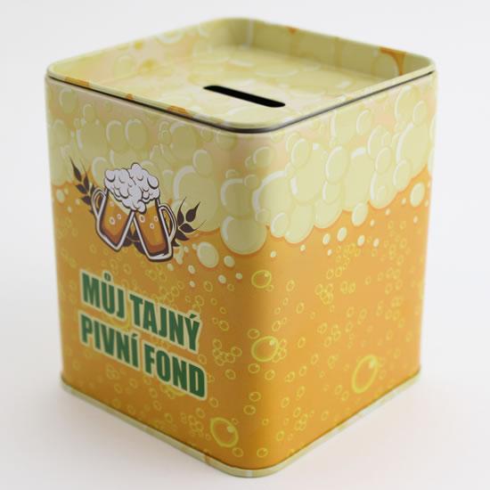 Pokladnička Pivní fond - Plechové pokladničky