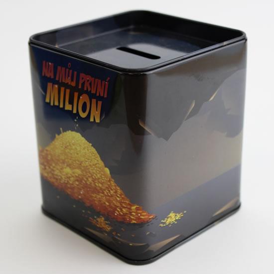Pokladnička První milion - Plechové pokladničky