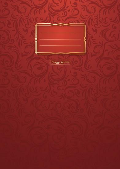 Sešit Premium červené ornamenty A5 - Sešity