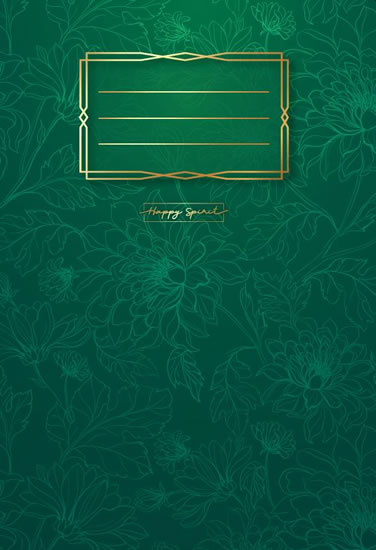 Sešit Premium zelené květy A5 - Sešity