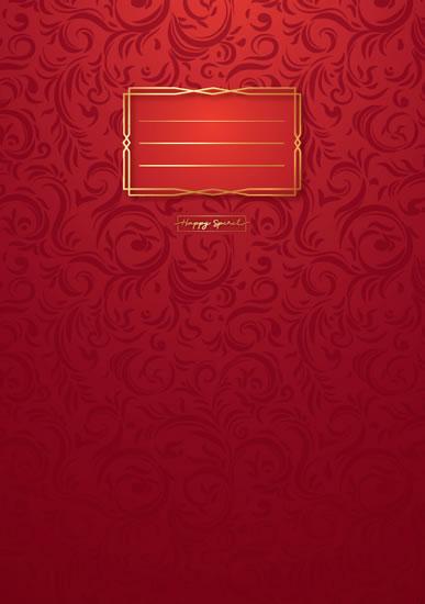 Sešit Premium červené ornamenty A4 - Sešity