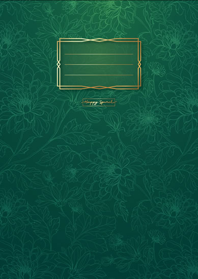 Sešit Premium zelené květy A4 - Sešity
