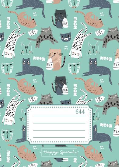 Školní sešit 644 Kočky - Sešity