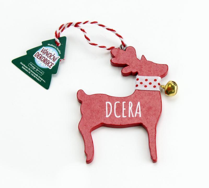 Vánoční dekorace červený sob DCERA
