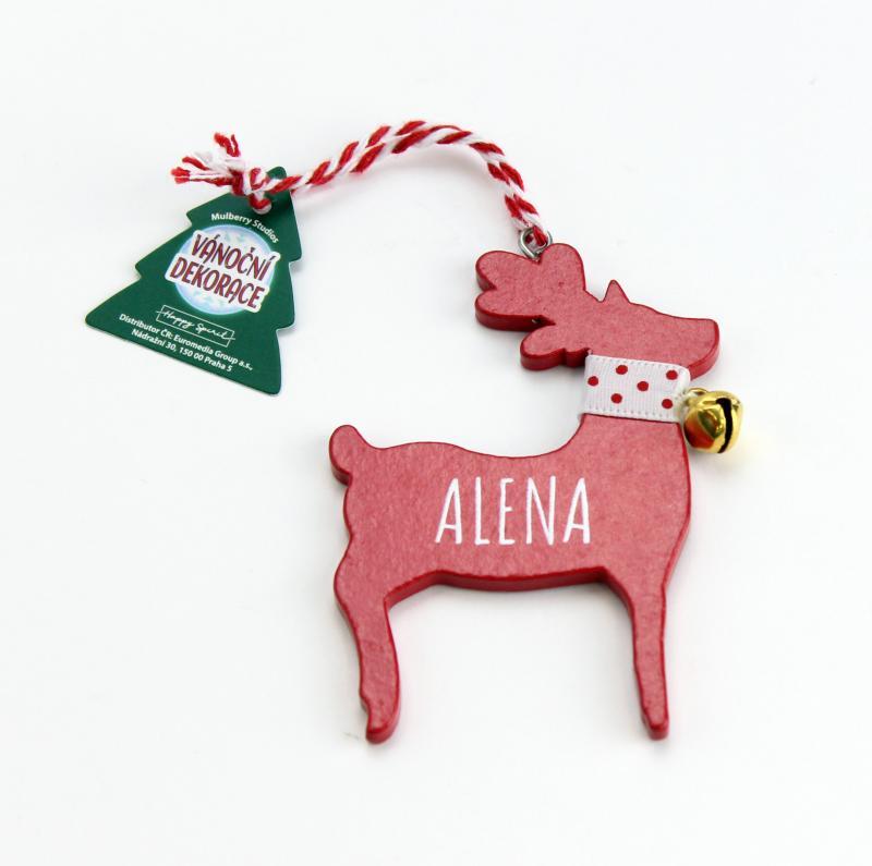 Vánoční dekorace červený sob ALENA