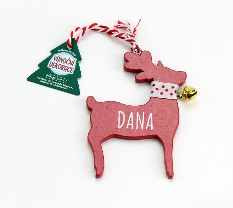 Vánoční dekorace červený sob DANA
