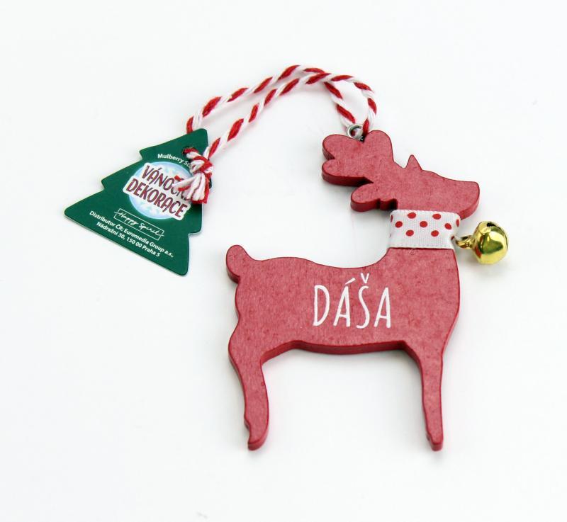 Vánoční dekorace červený sob DÁŠA