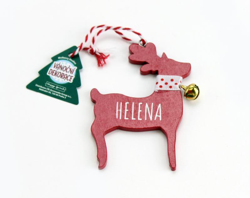 Vánoční dekorace červený sob HELENA