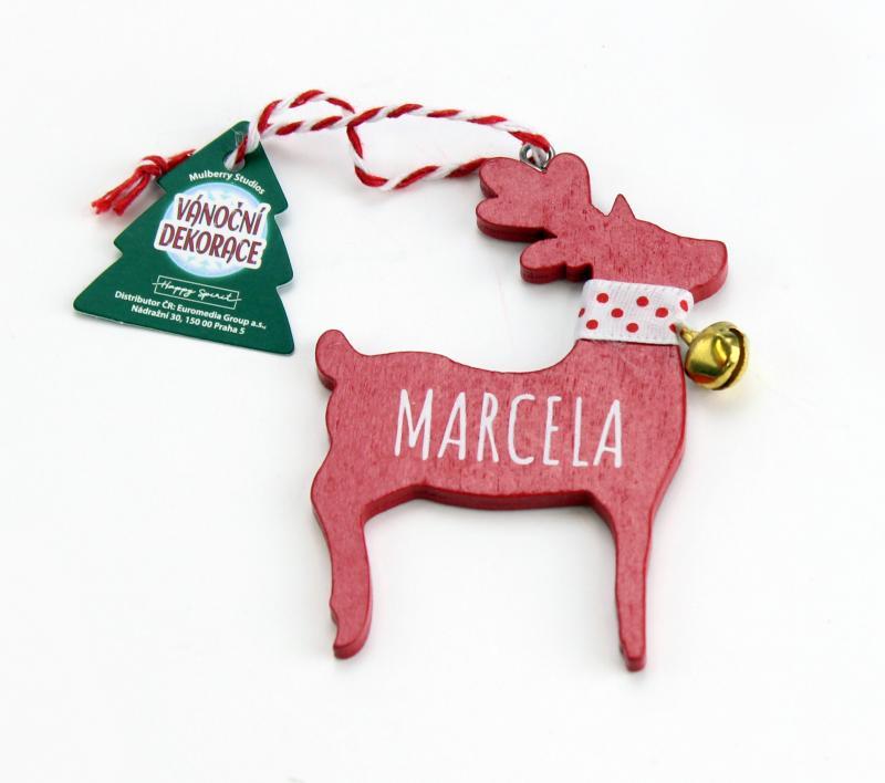 Vánoční dekorace červený sob MARCELA