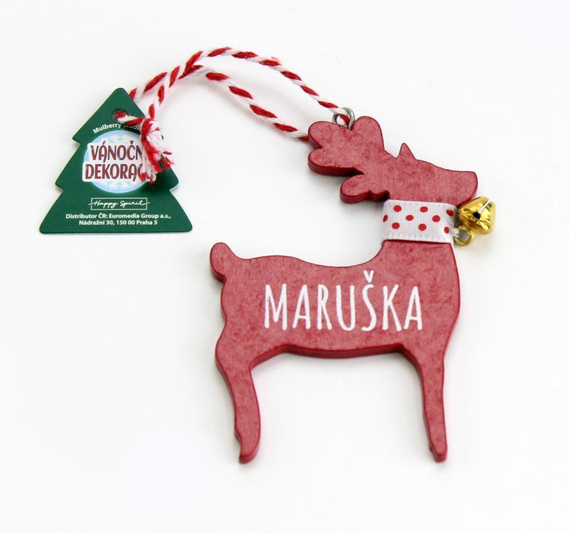 Vánoční dekorace červený sob MARUŠKA