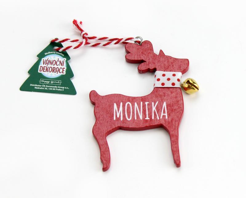 Vánoční dekorace červený sob MONIKA