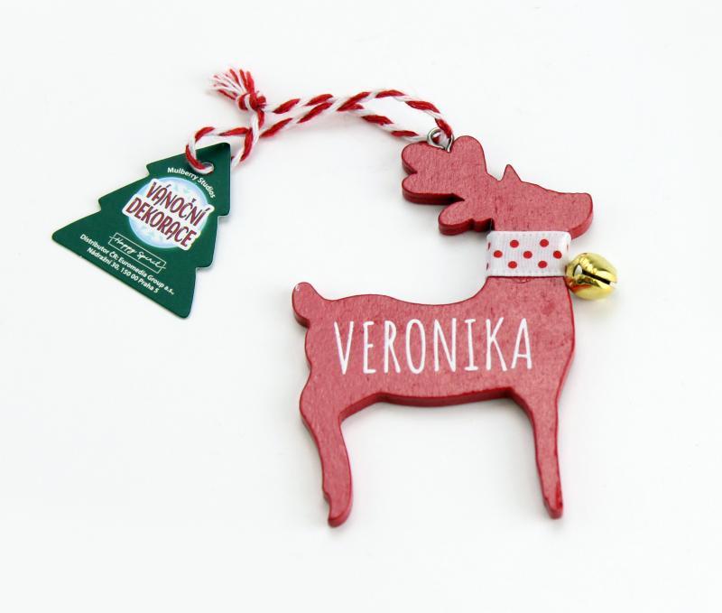 Vánoční dekorace červený sob VERONIKA