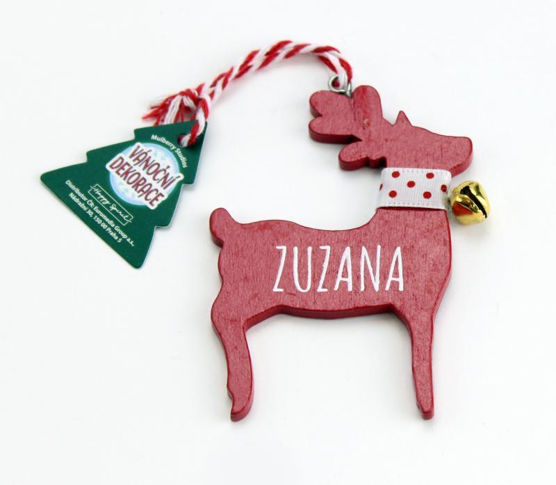 Vánoční dekorace červený sob ZUZANA