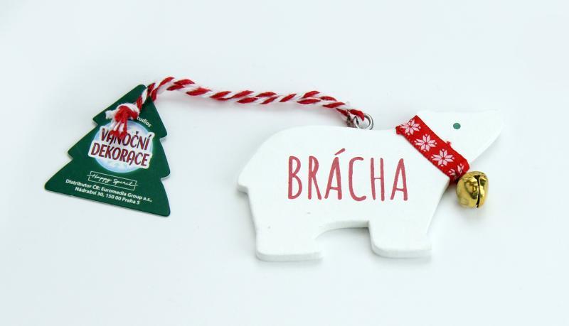 Vánoční dekorace lední medvěd BRÁCHA