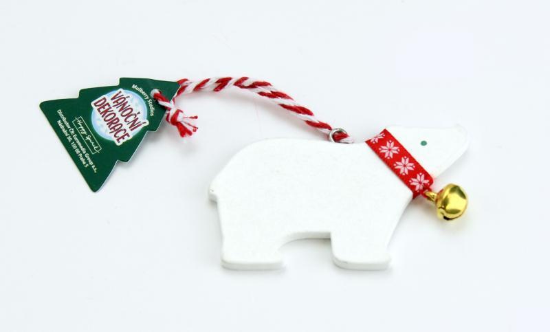 Vánoční dekorace lední medvěd BEZ TEXTU