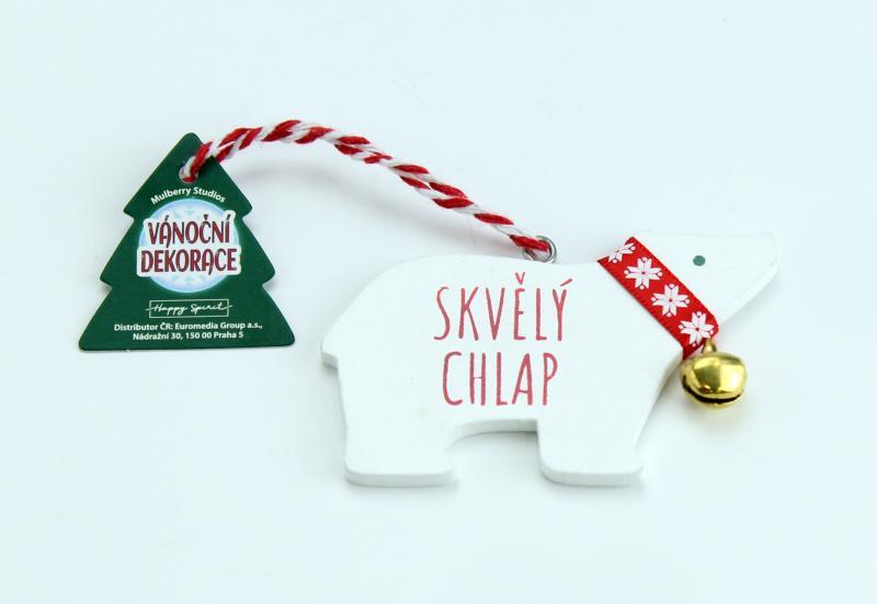 Vánoční dekorace lední medvěd SKVĚLÝ CHLAP