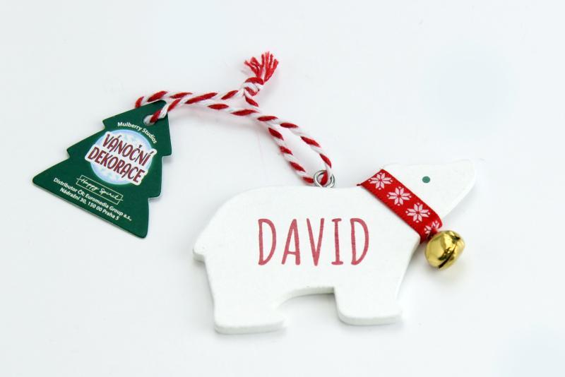 Vánoční dekorace lední medvěd DAVID