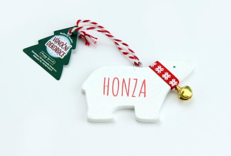 Vánoční dekorace lední medvěd HONZA