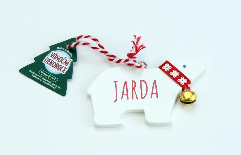 Vánoční dekorace lední medvěd JARDA