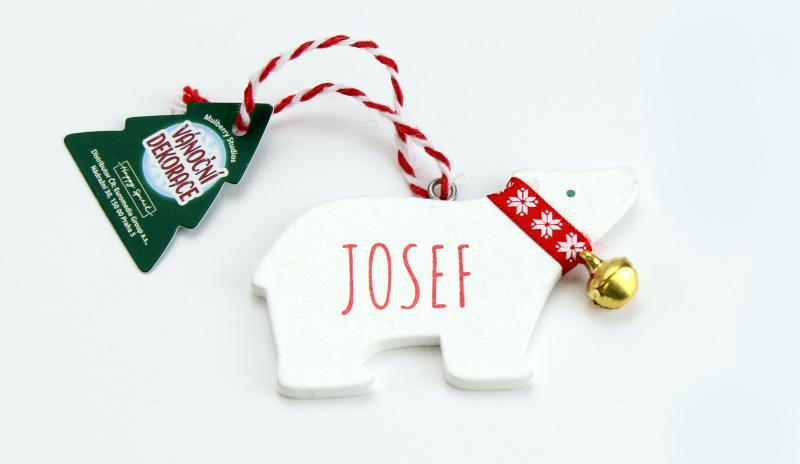 Vánoční dekorace lední medvěd JOSEF