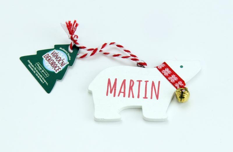 Vánoční dekorace lední medvěd MARTIN
