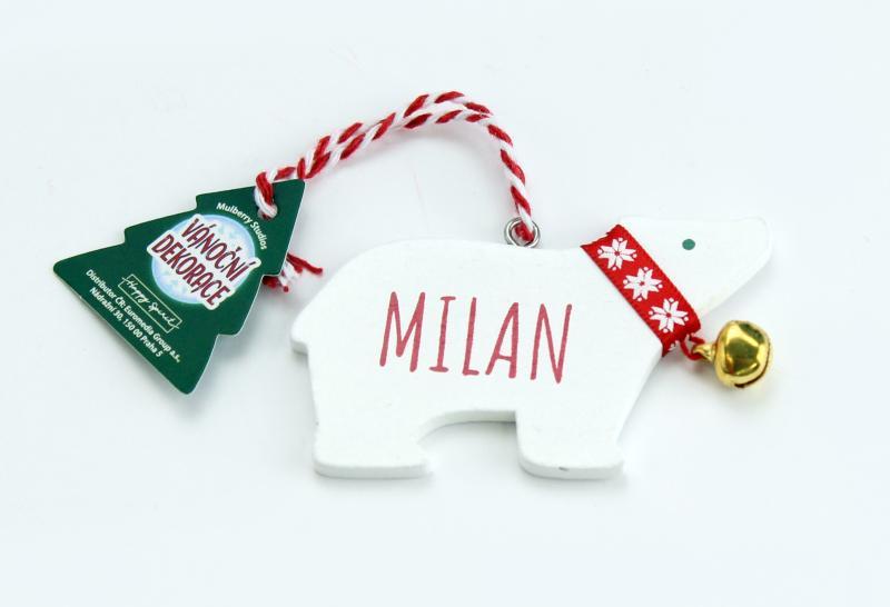 Vánoční dekorace lední medvěd MILAN