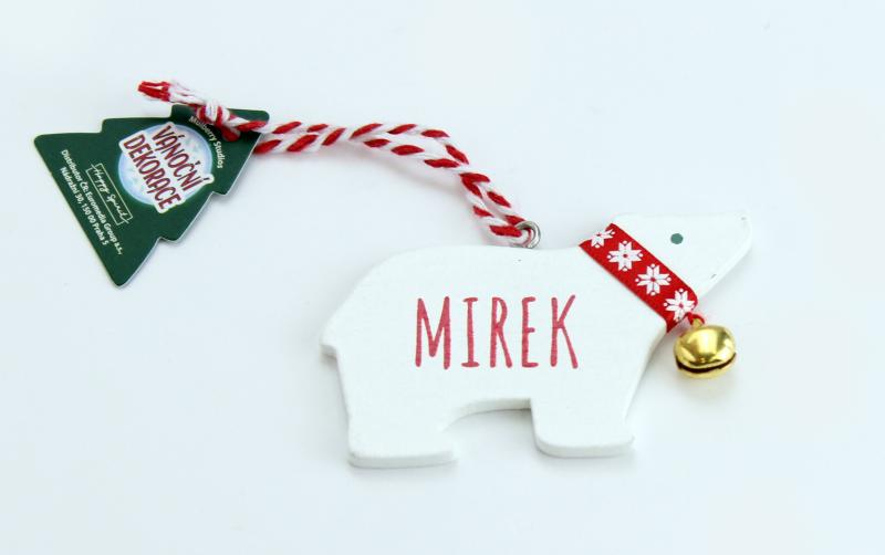 Vánoční dekorace lední medvěd MIREK